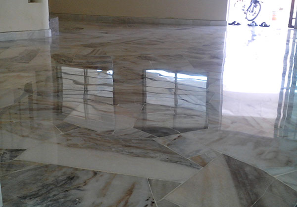 Marble Tiles after sealing and cleaning