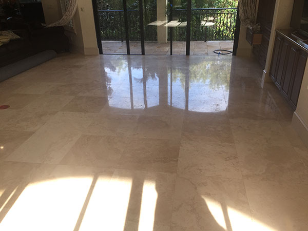 after polished marble