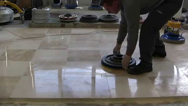 during Grinding Marble Tiles